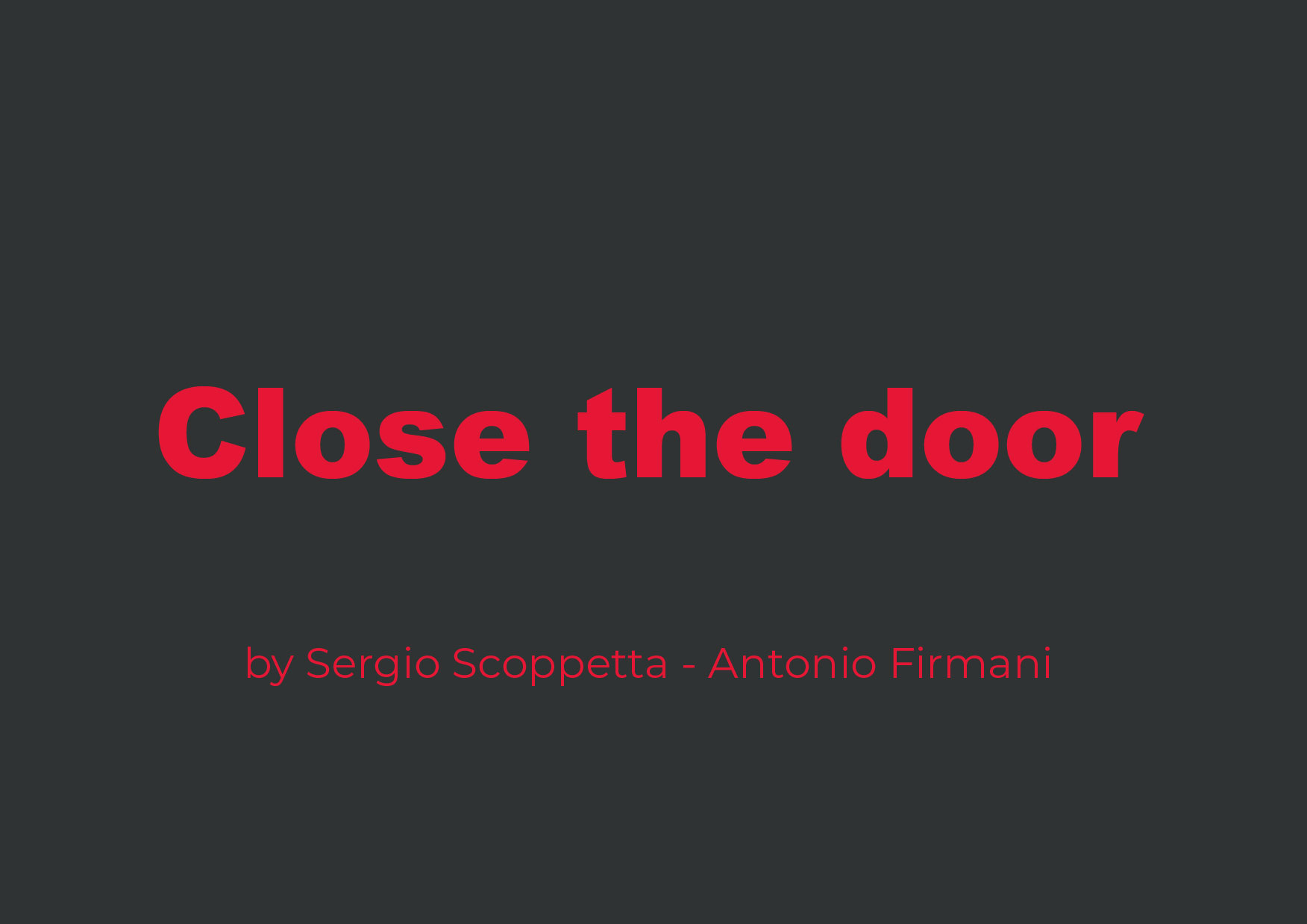 Close the Door Projects MR8 Productions
